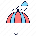 camping, rain, safety, umbrella, weather