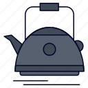 camping, kettle, pot, tea, teapot