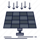 city, energy, panel, smart, solar, technology icon