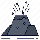alert, disaster, eruption, safety, volcano icon