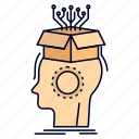 artificial, brain, digital, head, sousveillance icon