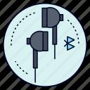 bluetooth, ear, headphone, music, phone