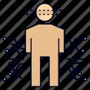 body, data, human, science, sensor icon