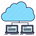 cloud, data, internet, network, server icon