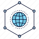 business, connection, data, global, network icon
