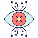 eye, infrastructure, monitoring, surveillance, vision icon