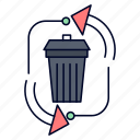 disposal, garbage, management, recycle, waste icon