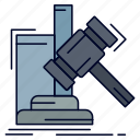 auction, gavel, hammer, judgement, law icon