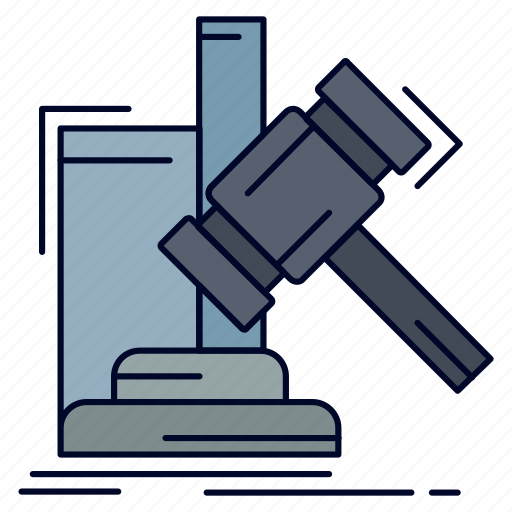 Auction, gavel, hammer, judgement, law icon - Download on Iconfinder