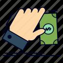business, dollar, earn, hand, money