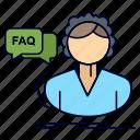 assistance, call, consultation, faq, help icon