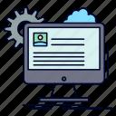 account, edit, profile, report, update icon