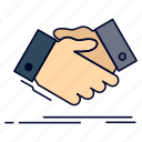 agreement, business, hand, handshake, shake, shaking icon