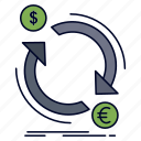 convert, currency, exchange, finance, money icon