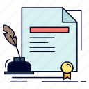 agreement, award, contract, document, paper icon
