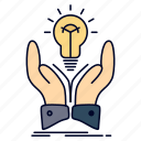 creative, hands, idea, ideas, share icon