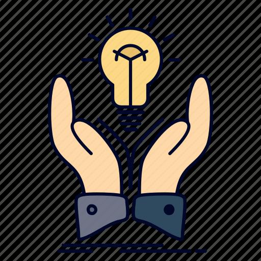 creative, hands, idea, ideas, share icon