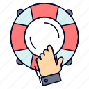 emergency, guard, help, insurance, lifebuoy icon