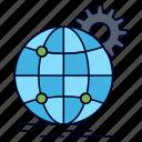 business, gear, globe, international, wide, world