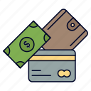 card, credit, currency, dollar, money, wallet icon