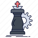 chess, horse, knight, strategy, success icon