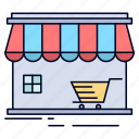 building, market, shop, shopping, store icon