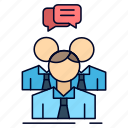 business, group, meeting, people, team icon