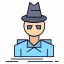 detective, hacker, incognito, spy, thief icon