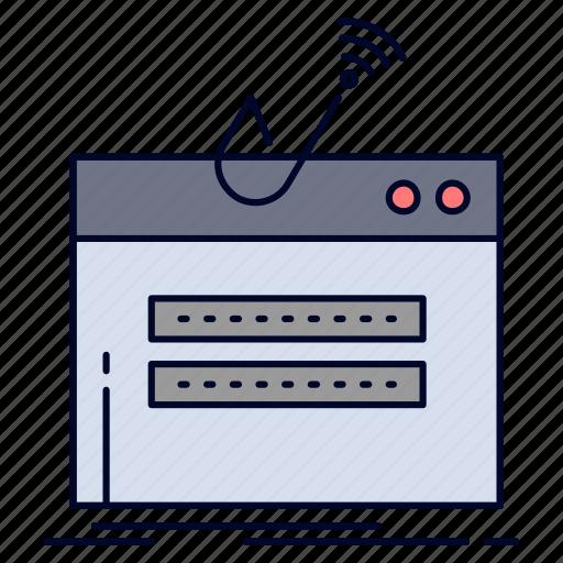 fraud, internet, login, password, theft icon