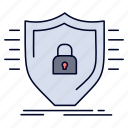 defence, firewall, protection, safety, shield icon