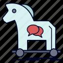 cybercrime, horse, internet, trojan, virus icon