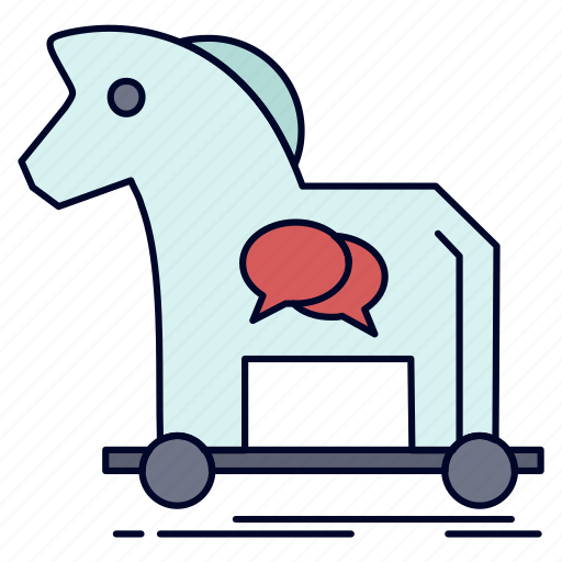 Cybercrime, horse, internet, trojan, virus icon - Download on Iconfinder