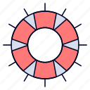 help, lifebuoy, lifesaver, save, support icon