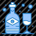 alcohol, bottle, glass, wine