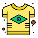 brazil, brazilian, country, flag, tshirt