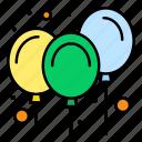 air, balloons, carnival, decoration
