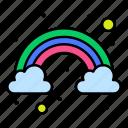 cloud, color, rainbow
