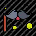 carnival, costume, moustache icon