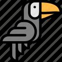bird, brazilian, carnival, toucan icon