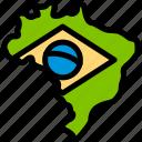 brazil, brazilian, carnival, map icon