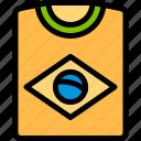 brazil, brazilian, carnival, tshirt icon