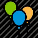 balloons, brazilian, carnival, decoration icon