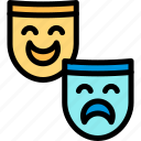 brazilian, carnival, mask, masquerette icon