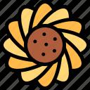 brazilian, carnival, flower, sun flower icon