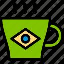 brazilian, carnival, coffee, cup icon