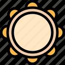 brazilian, carnival, music, tambourine icon