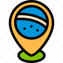 brazilian, carnival, pin, placeholder icon