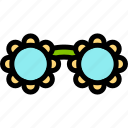 brazilian, carnival, glasses, party icon