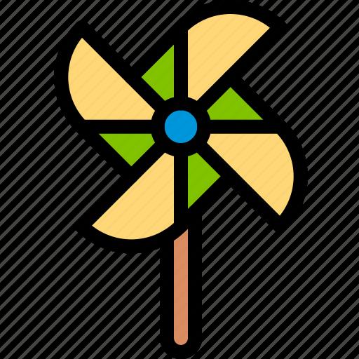 brazilian, carnival, toy, windmill icon