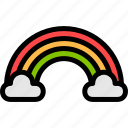 brazilian, carnival, cloud, rainbow icon